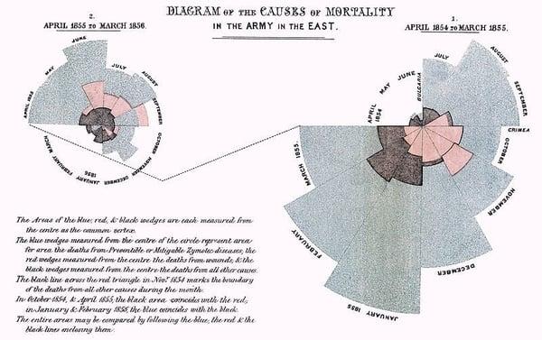 florence Nightingale data Visualisation
